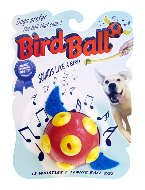 BirdBall Whistling Fetch Toy for Dogs